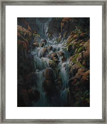 Weeping Rocks Framed Print by Mia DeLode