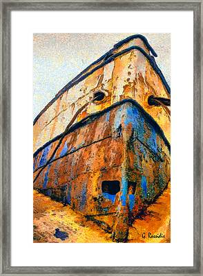 Weeping Ship Framed Print by George Rossidis