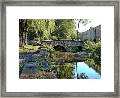 Weeping Willow Bridge Framed Print