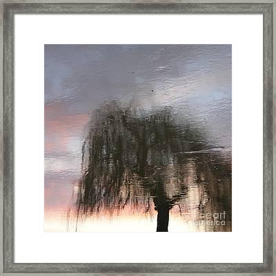 Weeping Willow Framed Print by Karin Ubeleis-Jones