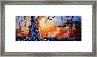 Weeping Willow Sighs Framed Print by Hanne Lore Koehler