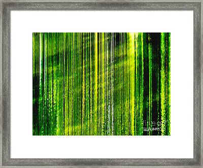 Weeping Willow Tree Ribbons Framed Print
