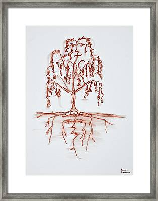 Weeping Willow With Heart And Soul Framed Print