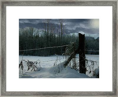 Weeping Winter Moon Framed Print by RC deWinter