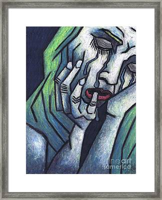 Weeping Woman Framed Print by Kamil Swiatek