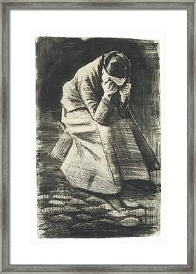 Weeping Woman Framed Print by Vincent van Gogh