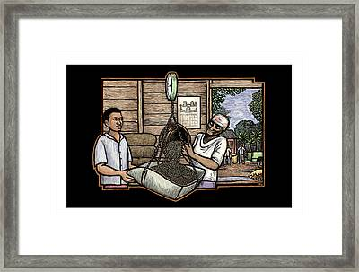 Weighing Coffee Framed Print