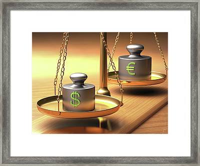 Weighing Scales And Weights Framed Print by Ktsdesign