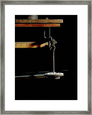 Weighing Value - Vintage Fairbank Scale Framed Print