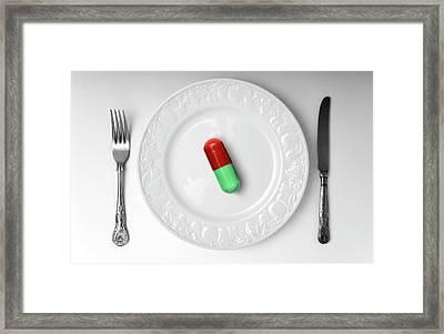 Weight-loss Drug Framed Print by Victor De Schwanberg