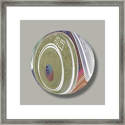 Weight Plates Orb Framed Print