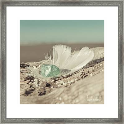 Weighted Feathers Framed Print by Lucid Mood