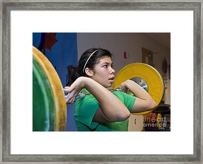 Weightlifter Framed Print
