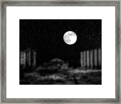 The Brilliant Full Moon Lit The Night Sky Framed Print by Gothicrow Images