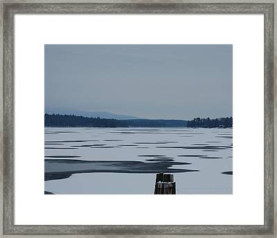 Weirs Beach Nh Almost Framed Print by Mim White