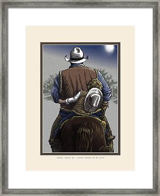 Wejesgotstatrust Framed Print by Cliff Hawley