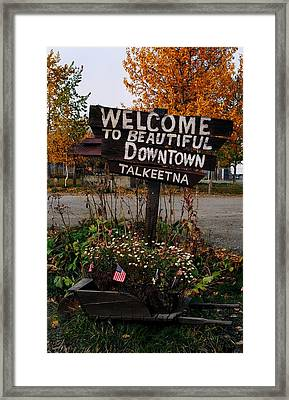 Welcome ... Framed Print