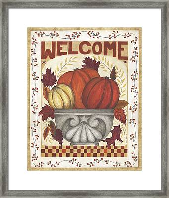 Welcome Framed Print by Cindy Shamp