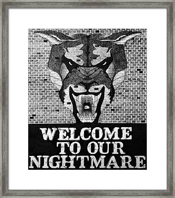 Welcome Framed Print by Daniel P Cronin