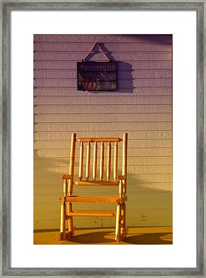 Welcome Friends Framed Print by Jeff Swan