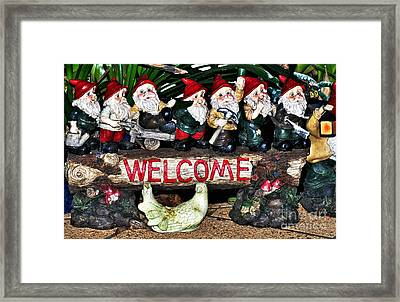 Welcome From The Seven Dwarfs Framed Print by Kaye Menner