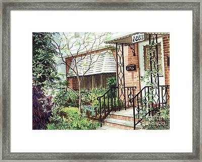 Welcome Home Framed Print by Barbara Jewell