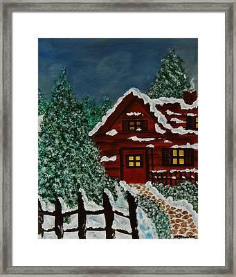 Welcome Home Framed Print by Celeste Manning