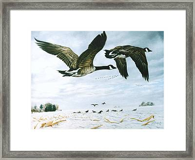 Framed Print featuring the painting Welcome Home by Craig T Burgwardt