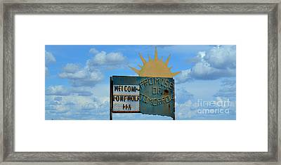 Hometown Welcome Framed Print