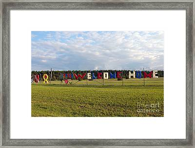 Framed Print featuring the photograph Welcome Home by Gina Savage
