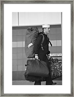 Welcome Home Soldier Framed Print by Dan Sproul