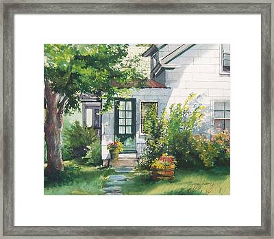 Framed Print featuring the painting Welcome by Joy Nichols