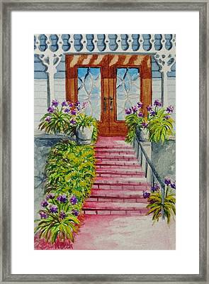Framed Print featuring the painting Welcome by Katherine Young-Beck