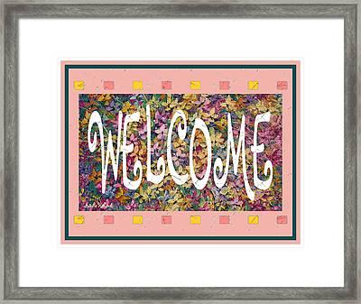 Welcome Framed Print