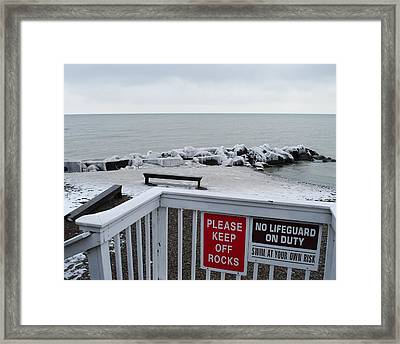 Welcome Polar Bear Club Framed Print by Frozen in Time Fine Art Photography