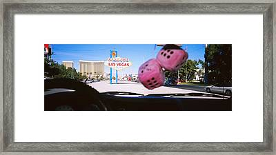 Welcome Sign Board At A Road Side Framed Print by Panoramic Images