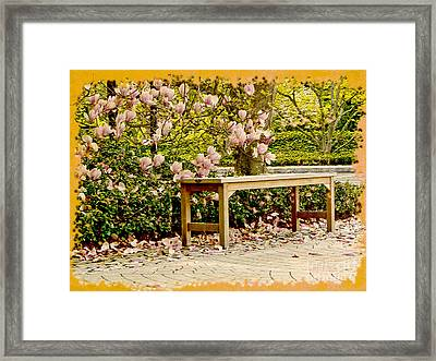 Welcome Spring Framed Print by Carol F Austin