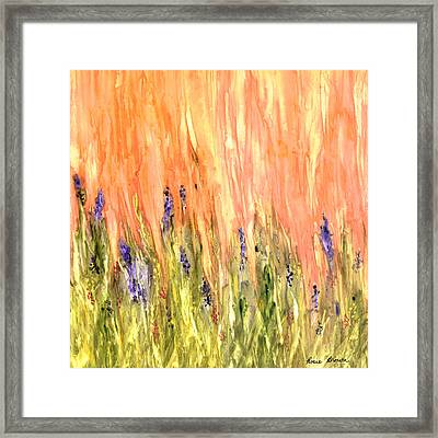 Welcome Spring Framed Print by Rosie Brown