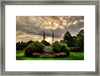 Welcome To Andrews North Carolina Framed Print