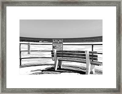 Welcome To Asbury Park In Black And White Framed Print by Paul Ward