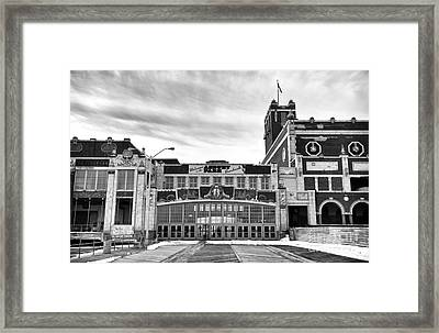 Welcome To Asbury Park Mono Framed Print