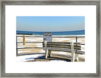 Welcome To Asbury Park Framed Print by Paul Ward