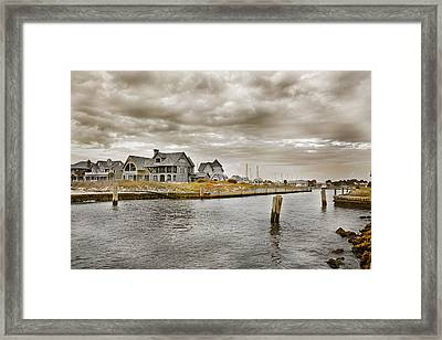Welcome To Bald Head Island Framed Print by Betsy Knapp