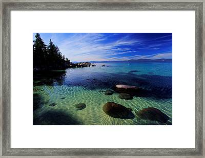 Welcome To Bliss Beach Framed Print