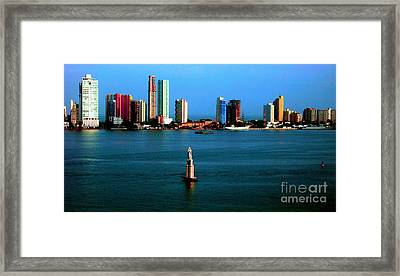 Welcome To Cartagena Colombia Framed Print by Ann Johndro-Collins