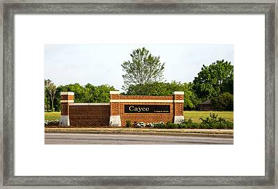 Welcome To Cayce Framed Print