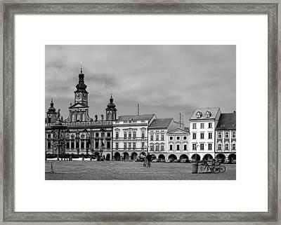 Welcome To Ceske Budejovice - Budweis Czech Republic Framed Print