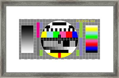 Welcome To Channel 68  Framed Print by Saad Hasnain