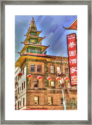 Welcome To Chinatown Framed Print