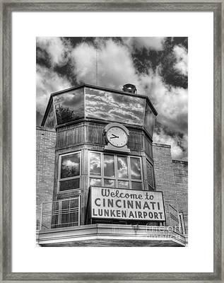 Welcome To Cincinnati 2 Bw Framed Print by Mel Steinhauer